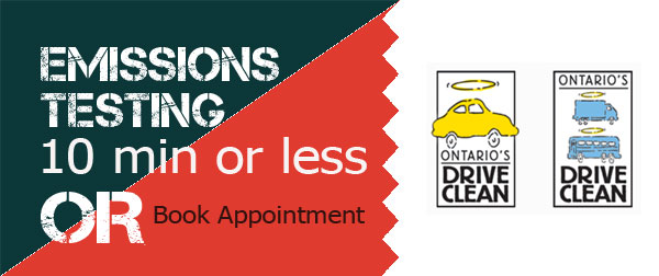 Book or drop in Ontario Drive Clean Appointments