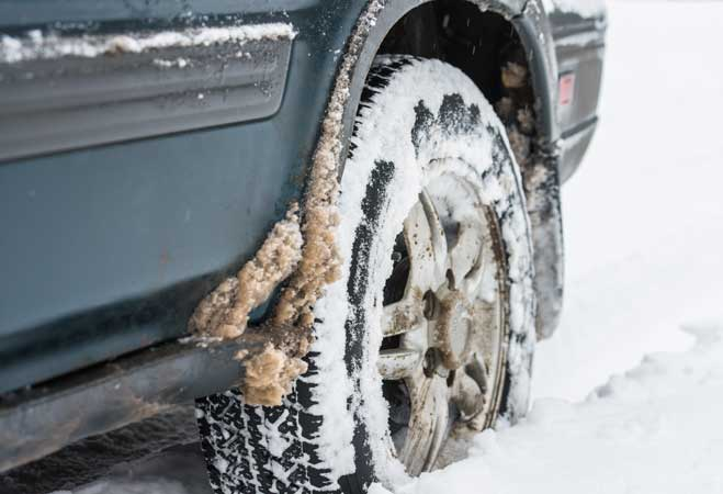 Salty Slush around car tires